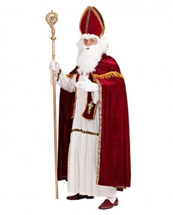5-piece Santa Claus Costume With Bishop's Cap
