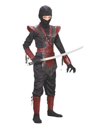 Ninja Fighter Kinderkostüm schwarz-rot