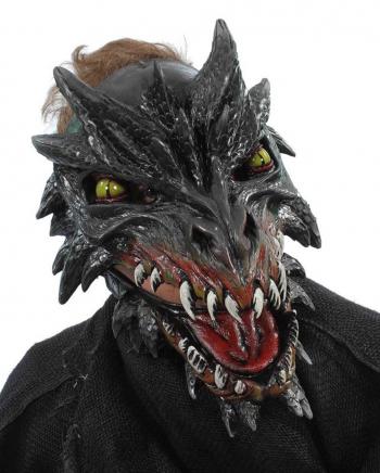 Noir Drachen Maske Deluxe