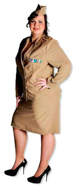 Offizier-Dame Premium Kostüm XL