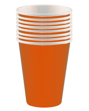 Paper Cup orange 8 St.