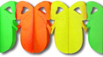 Osterei Girlande Orange Gelb Grün klein