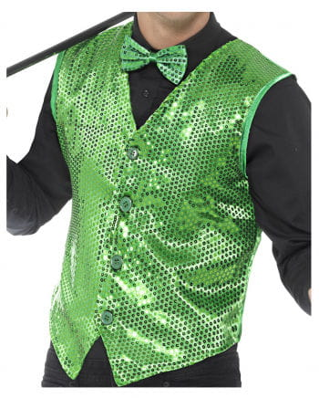 Sequin Vest For Men Green