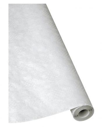 Damask Papiertischdecke White