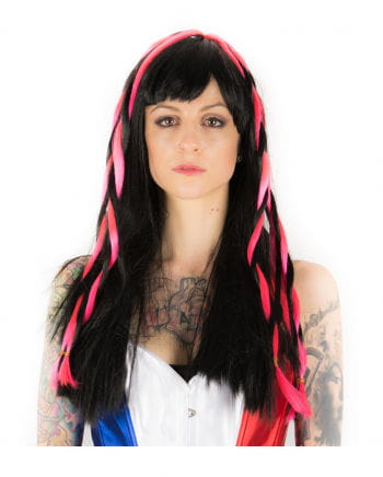 Cyber ​​Gothic Wig black / pink