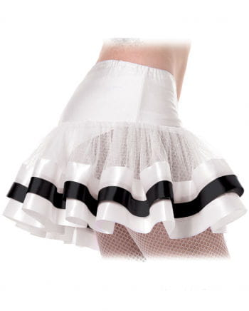 Petticoat weiß-schwarz