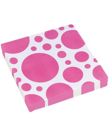 Pink Dots Napkins 20 Pc.