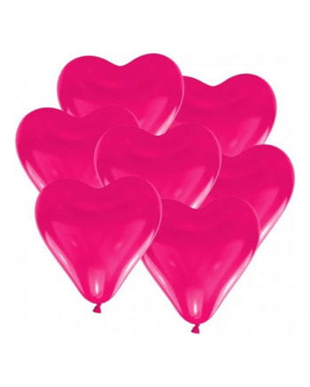 Pink heart balloons 10 pieces