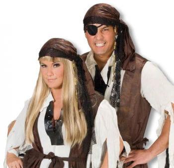 Piraten Bandana mit Perlen