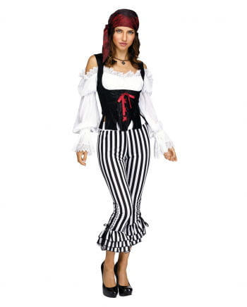Pirate Costume Pants Black-white