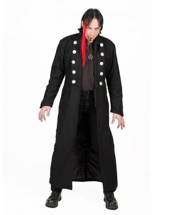 Gothic Piraten Wollmantel Schwarz