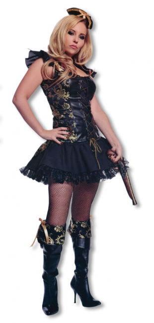 Pirate Lady Costume with Hat S / 36