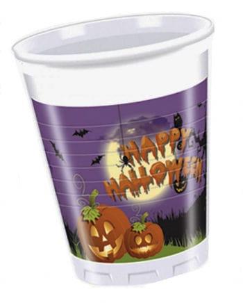 Happy Halloween plastic cups 8 St.