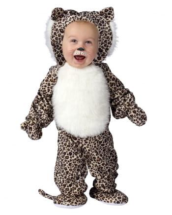 Plush Leopard Baby Costume Large