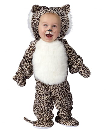 Plüsch Leopard Babykostüm Small