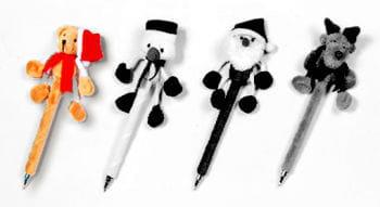 Plush Pen Christmas Bear