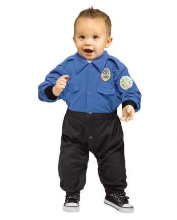 Polizei Baby Kostüm-Anzug
