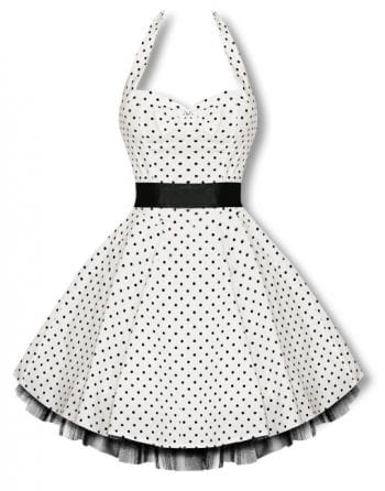 Halter polka dot dress in black and white