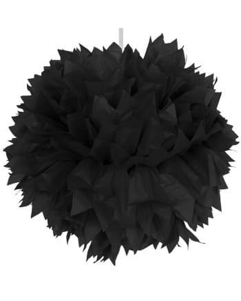 pom pom schwarz 30cm als halloween gothic deko horror. Black Bedroom Furniture Sets. Home Design Ideas