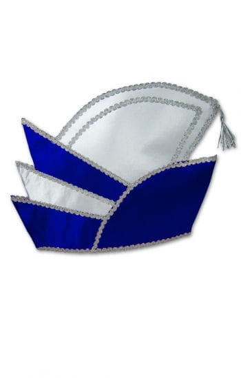 Carnival Prince Hat Blue/White