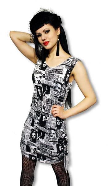 Punk Kleid im Zeitunsdesign S S / 36