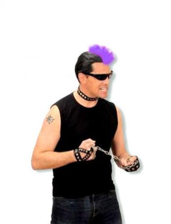 Punker Haarteil violett