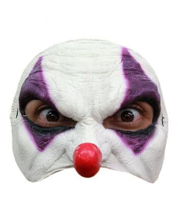 Purple Clown Halbmaske