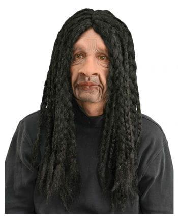 Rasta mask with dreadlocks