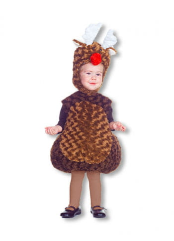 Red Nose Reindeer Plush Baby Costume