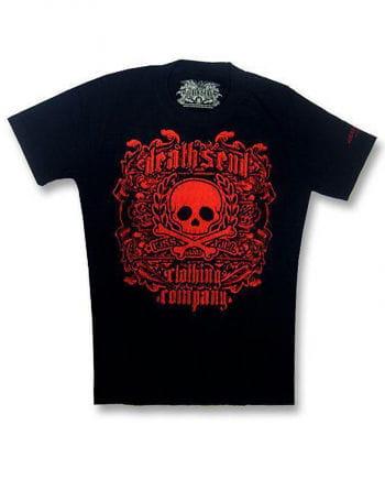 Red Skull and Bones T Shirt Gr. L