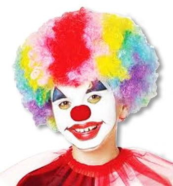 Rainbow Clown Wig Child