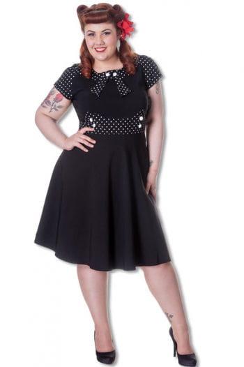 Retro Kleid mit Punkten Plus Size