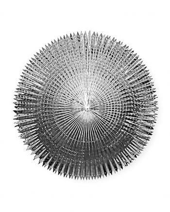 Faltfächer Metallfolie Silber 90 cm