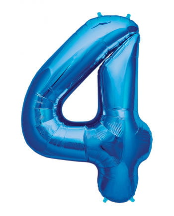 Foil balloon number 4 Blue