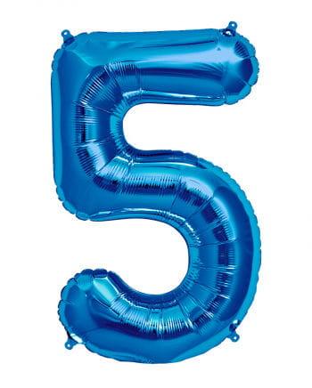 Foil Balloon Number 5 Blue
