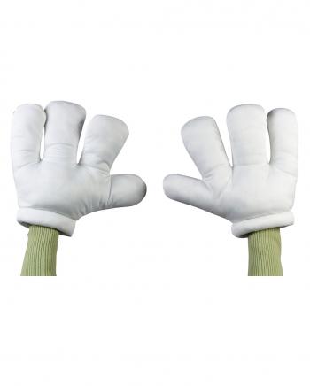 Cartoon Riesen Handschuhe weiß