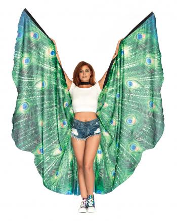 Riesige Pfauenfeder Flügel