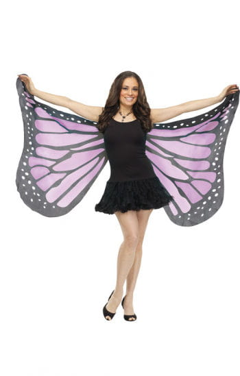 Huge purple butterfly wings