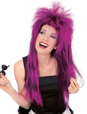 Rockstar Wig Neon Purple