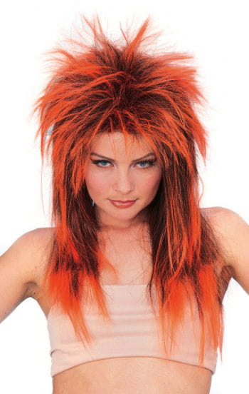 Rockstar wig Neon Orange