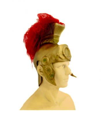 Römer Helm mit roten Federn