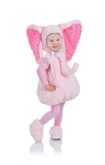 Rosa Plüschelefanten Kinder Kostüm