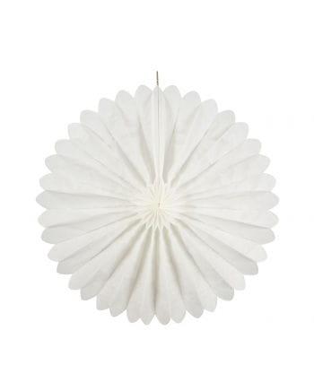 Rosettenfächer weiß 35 cm