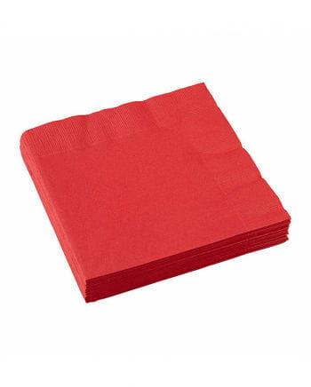 Red napkins 20 pcs