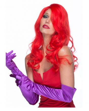 Red Cosplay Long Hair Wig with curls