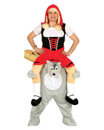 Little Red Riding Hood On Wolf Piggyback Costume to order | horror ...