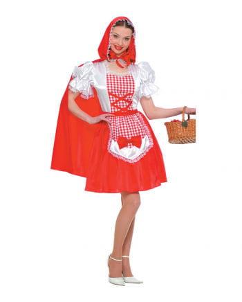 Rotkäppchen Kostüm mit Schürze & Umhang