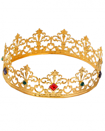 Royale Royal Crown With Coloured Gemstones
