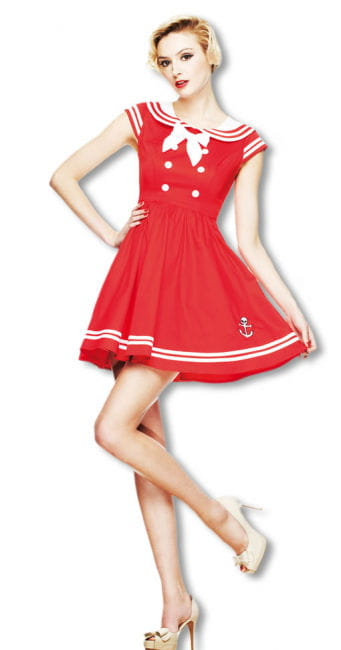 Sailor Minikleid rot