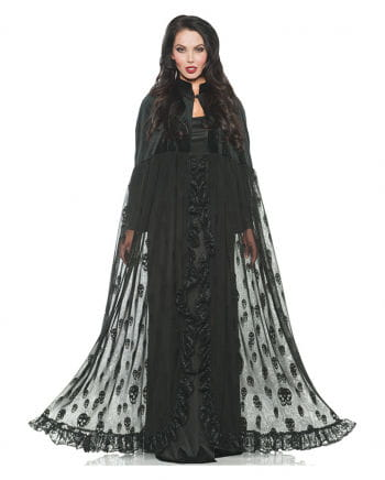 Velvet and lace Skull Cape